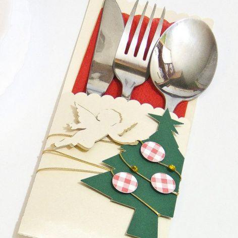 Etui na sztućce Boże Narodzenie - aniołek