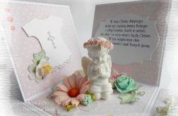 Exploding box różowy z aniołkiem