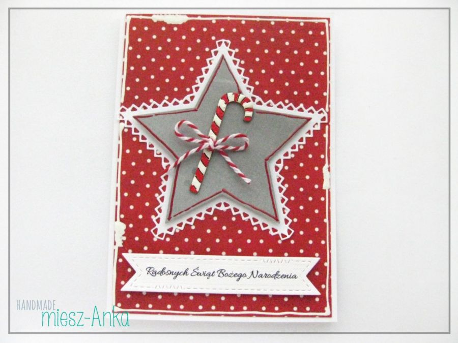 Kartka świąteczna z cukierkową laską 2
