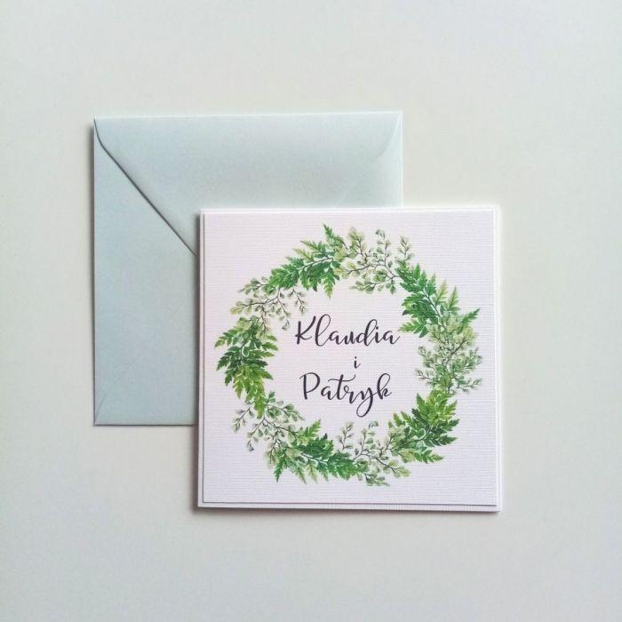 Zaproszenie ślubne  - paprotka03