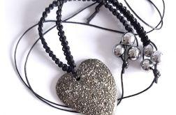 4481 długi naszyjnik granit hematyt