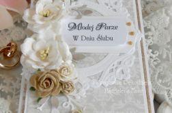 Ślubna kartka w pudełku DL 06