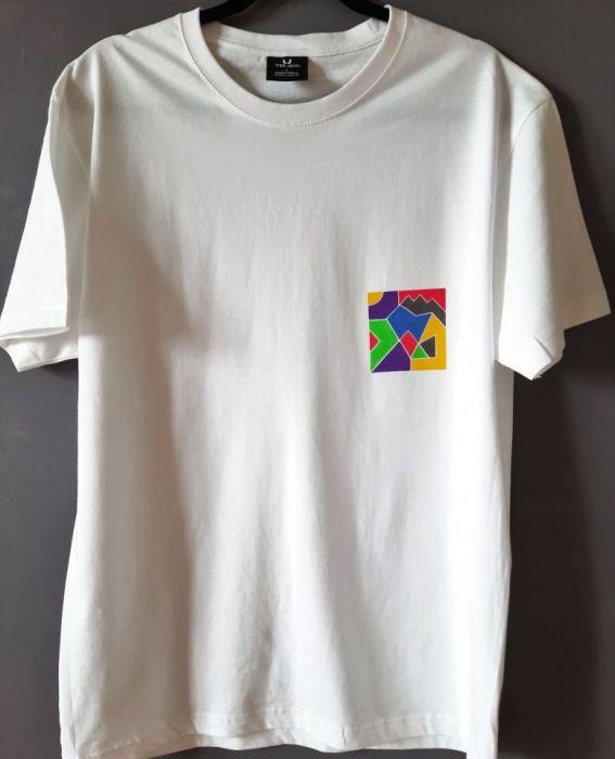 T-shirt ręcznie malowany kolory 90s unisex