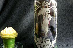Butelka lampion grawerowane