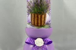 Świecznik fioletowy plus świeca