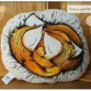 Ręcznie malowana podusia/ przytulanka - Liski