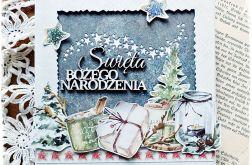 Gwiazdeczki - kartka bożonarodzeniowa