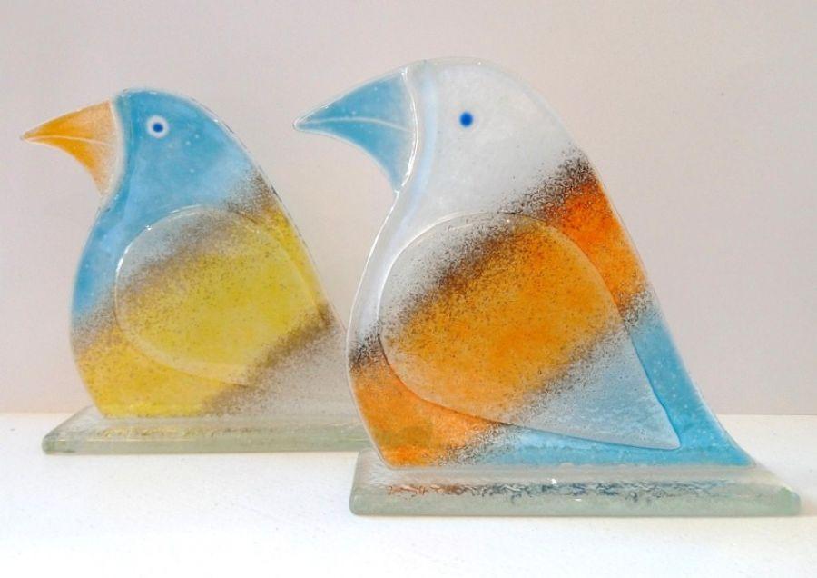 Ptak ze szkła fusing mały - B1+B2
