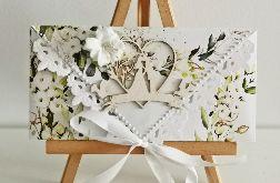 Kartka ślubna kopertówka floral IV