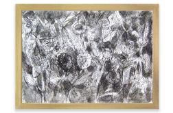 Łąka - czarno biały rysunek