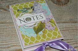 Hogisowy notesik z ptaszkiem - zielony
