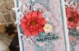 Kartka na urodziny z kwiatem