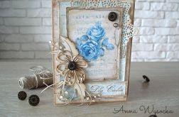 Niebieski Vintage