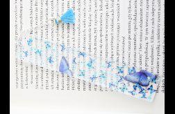 Zakładka do książki - błękitne motyle