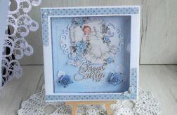 Kartka w pudełeczku na Chrzest Lullaby
