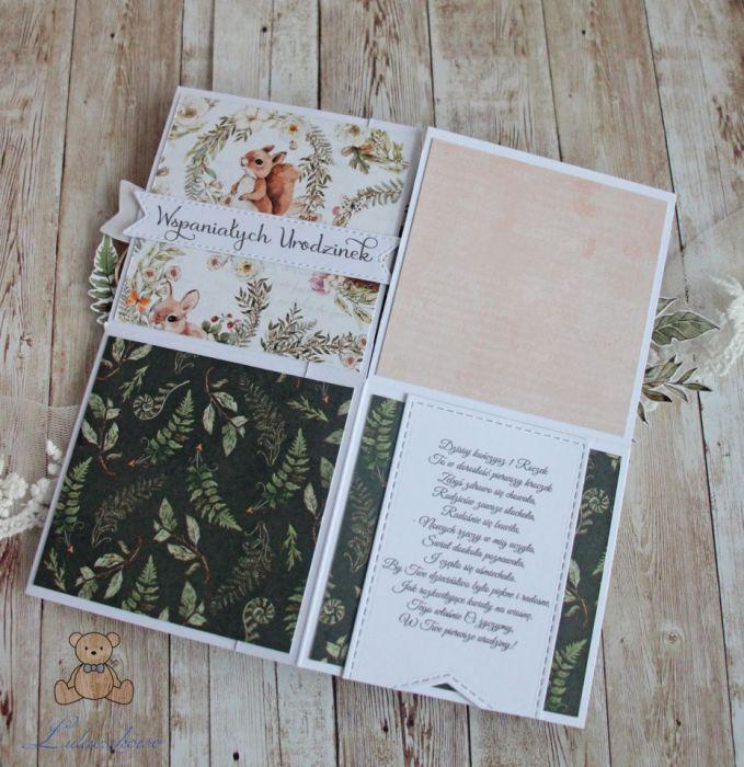 Kartka pop up urodzinowa Forest Party GOTOWA