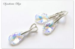 Komplet Swarovski Pear Shaped Crystal AB