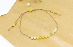 Bransoletka mocy: żółty opal
