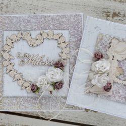 Kwiatowa kartka ślubna z pudełkiem A8