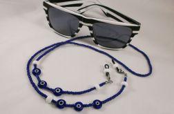 Łańcuszek do okularów koraliki oko proroka