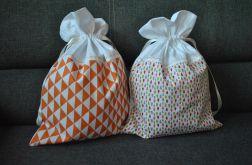 Dwa worki na bieliznę - pomarańczowe łezki