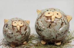Ceramiczna SOWA WIĘKSZA symbol mądrości