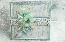 W dniu Imienin- kartka z pudełkiem