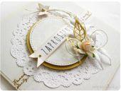 Biało - złote zaproszenia