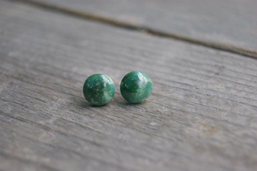 Zielone kolczyki Zoji