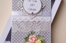 80 Urodziny w białe groszki