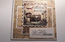 Kartka Dzień Dziadka, podróżnicza