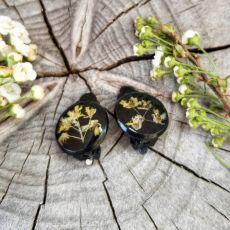 Klipsy z suszonymi kwiatami