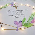 Pamiątka Chrztu prezent chrzciny złote detale