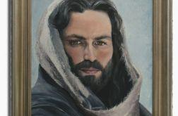 Obraz ręcznie malowany realistyczny CHRYSTUS unikat GUSTAW