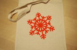 torba płatek śniegu ręcznie malowana2