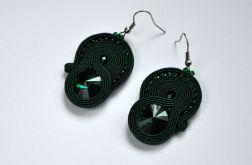 Kolczyki zieleń emerald