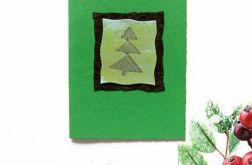 Kartka  świąteczna minimalizm 87 z choinką