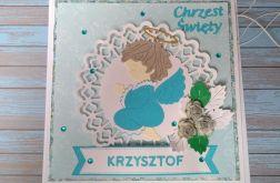 Kartka z Niebieskim Aniołkiem