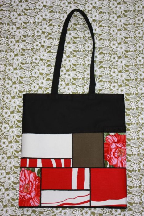 torba worek czerwone równoboki- na Fundację
