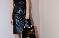 Skórzana sukienka / czarna – GIULIANA