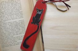 Zakładki malowane - Koty w czerwieni
