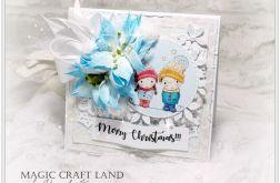 Zimowa para - kartka świąteczna