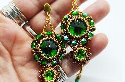 Kolczyki BLING- zielone