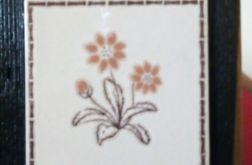 Stara deska i ceramika - ozdobna zawieszka
