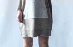 Sukienka oversize z kapturem 05