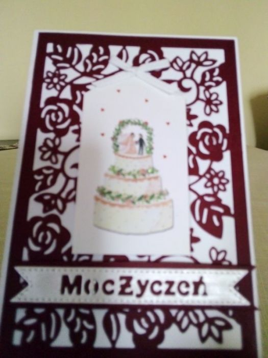 Ślubny tort - kartka