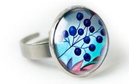 Jagoda pierścionek z ilustracją