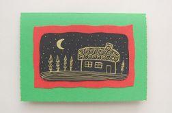 Zielona kartka domek 2