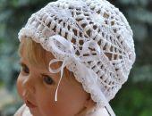 Coś na narodziny -czapeczka i buciki  roz.62-68  3-6 miesiące