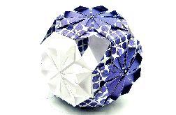Bombka origami kusudama z papieru kwiaty